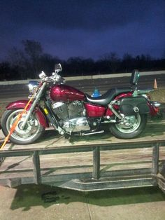Honda shadow sabre 1100. My baby, without the bullnose and with added saddlebags