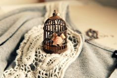 Bird cage necklace