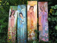 anioł malowany na desce - Szukaj w Google