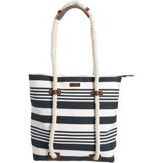 GANT Naval Beach Bag ($188) ❤ liked on Polyvore featuring bags, handbags, shoulder bags, purses, shoulder handbags, leather hand bags, genuine leather handbags, summer purses and handbags shoulder bags