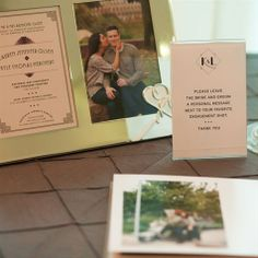 Engagement Photo Guest Book