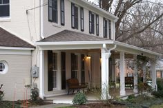 Portico: A large porch usually with a pediment roof supported by classical columns or pilars.