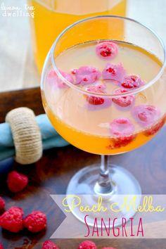 Peach Melba Sangria