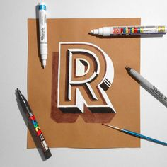 hand lettering on kraft paper 2 on Behance