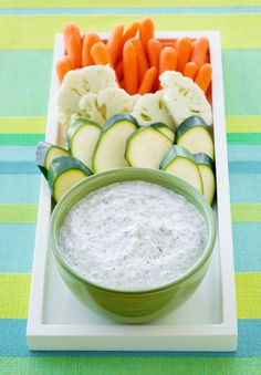 Cool down with this quick and easy cucumber dip. Only four ingredients needed! Tip: replace the sour cream with Greek yogurt for a lighter version.