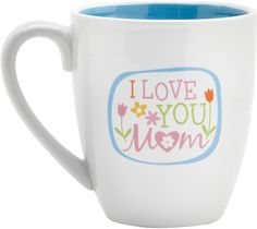 This lovely ceramic mug makes a wonderful Mothers Day gift! Decorated with colorful spring flowers, this white coffee mug will put a smile on moms face every time she sips her morning coffee or tea. One side reads I Love You, Mom, while the other features the verse, There are many virtuous and capable women in the world, but you surpass them all! - Proverbs 31:29
