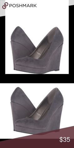 Michael Antonio grey wedge shoes. Worn once Michael Antonio grey wedge shoes. Worn once size 6 Michael Antonio Shoes Wedges