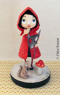 Le Petit Chaperon Rouge Masqué, OOAK doll