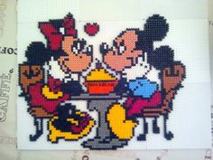 Mickey & Minnie hama beads by decokdonat