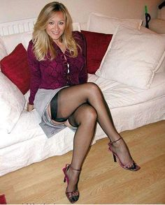 I ❤️ her sexy beautiful legs in high heels and shiny black stockings, and cute mini skirt. Stockings Heels, Stockings And Suspenders, Black Stockings, Stockings Lingerie, Nylon Stockings, Great Legs, Beautiful Legs, Fully Fashioned Stockings, Beautiful Old Woman