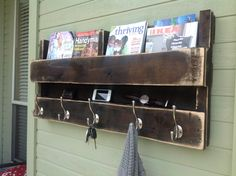 Love this idea. I especially like the shelf for phone, keys. Maybe mail up top?