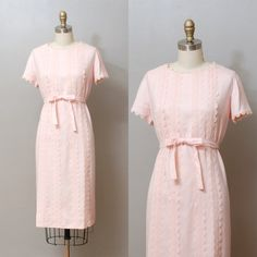 Vintage 1950s Dress  Pink Lace Detail 50s by OldFaithfulVintage, $48.00