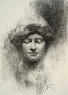 【Statue drawing with charcoal 】 ......by Chien Chung Wei