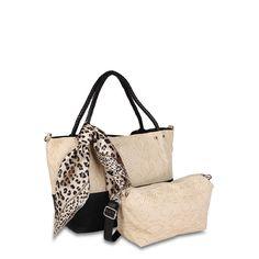 Leopard Print Handbag In Beige