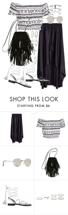 """Untitled #19844"" by florencia95 ❤ liked on Polyvore featuring H&M, Forever 21, Yves Saint Laurent, Anine Bing and Jennifer Fisher"
