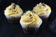 - Nanaimo Bars Cupcakes By TasteSpotting Baking Cupcakes, Cupcake Recipes, Cupcake Cakes, Dessert Recipes, Poke Cakes, Dessert Ideas, Yummy Treats, Delicious Desserts, Sweet Treats