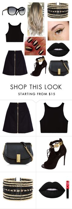"""""""Outfit #27"""" by omgthislatina ❤ liked on Polyvore featuring Acne Studios, Marc Jacobs, Giuseppe Zanotti, Chanel, Eloquii and Lime Crime"""