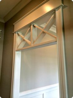 """""""X"""" transom in doorways - this would be cool by the dining room"""