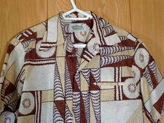 Vintage Malihini Tiki Tribal Rock-A-Billy Aloha Hawaiian Shirt Mens M | eBay