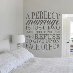"A Perfect Marriage Wall Decal (42"" x 48"")"