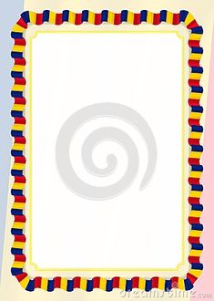 Frame And Border Of Ribbon With Moldova Flag, Template Elements For Your Certificate And Diploma. Vector Stock Vector - Illustration of element, border: 120826590 Flag Template, Templates, Moldova Flag, Page Borders, Ribbon Design, Romania, Certificate, Vector Stock, Frames