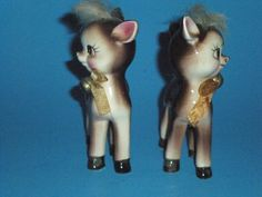 Vintage Reindeer Salt and Pepper Shakers | eBay