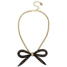 Betsey Johnson Garden of Excess Mesh Bow Necklace (€49) ❤ liked on Polyvore featuring jewelry, necklaces, accessories, gold, beading jewelry, beading necklaces, mesh chain necklace, mesh jewelry and mesh necklace
