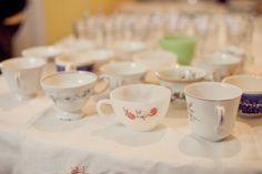 vintage tea party idea - use thrift store tea cups