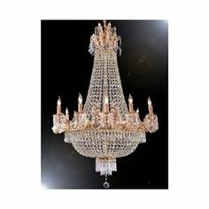 French Empire Crystal Chandelier Chandeliers H32 X W25 1 of 1