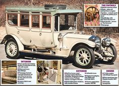 The most magnificent Rolls-Royce ever built: Ivory and silver fittings, silk door panels and a china tea service
