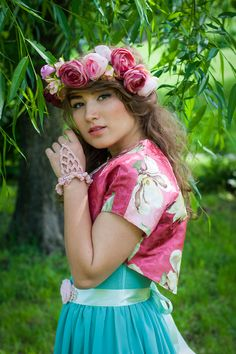 Pink Ruffle bracelet (50 LEI la Nunny.sDiary.breslo.ro) Girls Dresses, Flower Girl Dresses, Harajuku, Wedding Dresses, Bracelets, Flowers, Pink, Style, Fashion