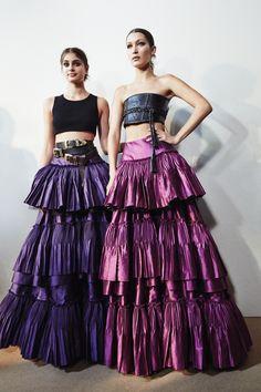 CR Fashion Book - BACKSTAGE AT ALBERTA FERRETTI SPRING 2017