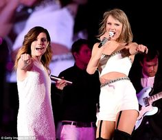 Sassy: Taylor also performed with Sydney Sierota of Echosmith at the jam-packed Lincoln Financial Field