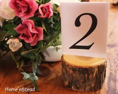 Elm Log Card Stand for table assignments