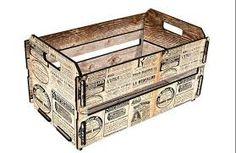 bandeja de cafe da manha feita de caixote de feira artesanato - Pesquisa Google