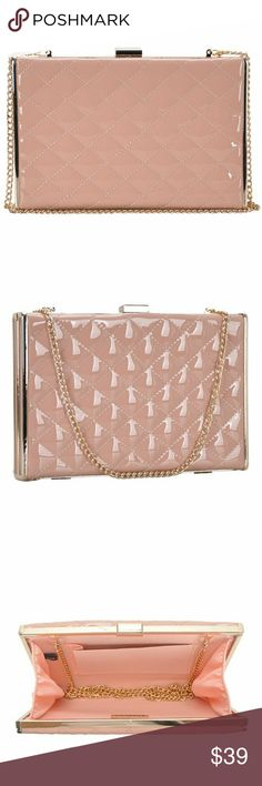 """NWT """"Blushin' Dream Shatter """" Crossbody bag PRODUCT DETAILS:  Quilted shiny stitched exteriorOptional cross body chain 22 inches longGold-tone hardwearMeasurements: 9"""" L. x 1.25"""" W 6"""" H  Bag includes duster bag Beyond The Fame Bags Crossbody Bags"""