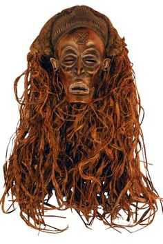 Africa   Chokwe Chihongo Mask of Wealth   This mask is of the Chokwe people who are mostly found in Angola, Democratic Republic of Congo and Zambia. The Chokwe have a wide variety of masks some of which were used for tribal religious and administrative rites. However, some are considered entertainment masks and this is one of such.  This mask is in the class of Chokwe mask called the Chihongo, meaning the Spirit of Wealth.