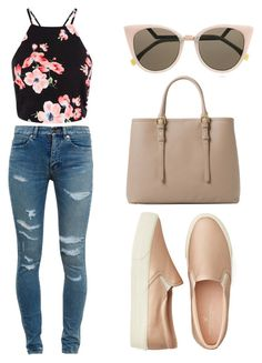"""""""Untitled #6"""" by hutlaska on Polyvore featuring Yves Saint Laurent, American Eagle Outfitters, MANGO and Fendi"""