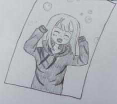 Anime girl draw manga cute bubble
