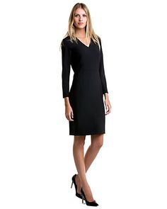"""Some of you have to get in on this: Theory """"Kasia.Tailor"""" Black Dress"""