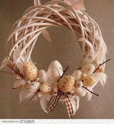Wianek wiklinowy jajeczka Wielkanoc (5174291903) - Alle…