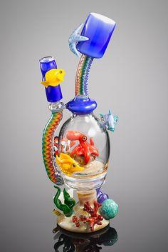 """Joe Peters x Natey Biskind AQUATIC """"Octopus's Garden"""" Zipper Vapor Reef with Matching Dome"""