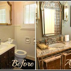 Small Bathroom to Elegant Glamour Bath