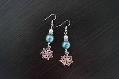 Snowflake Earrings Christmas Earrings Winter Earrings