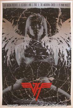 2007 Van Halen Silkscreen Concert Poster by Todd Slater