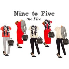 Nine to Five - the Five by boardroombelles on Polyvore featuring мода, J.Crew, Allibelle and Tory Burch