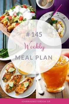 Brand new Weekly Meal Plan loaded with delicious recipes to help you plan out your week! Freezer Meals, Easy Meals, Delicious Recipes, Yummy Food, Recipe Organization, Menu Planning, Crockpot, Organizing, Greek
