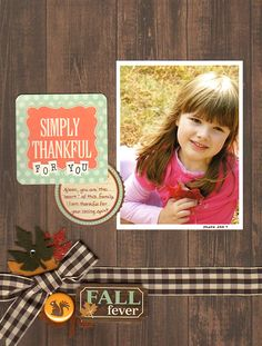 Simply Thankful Layout by Linda Auclair