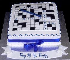 Crossword Cake