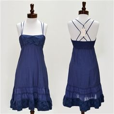 Free People  Shirred and Tiered Dress